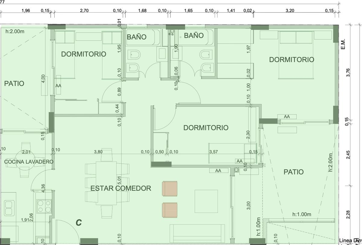 Foto Departamento en Venta en  Caballito Norte,  Caballito  Av. Gaona al 1973 - 1° C