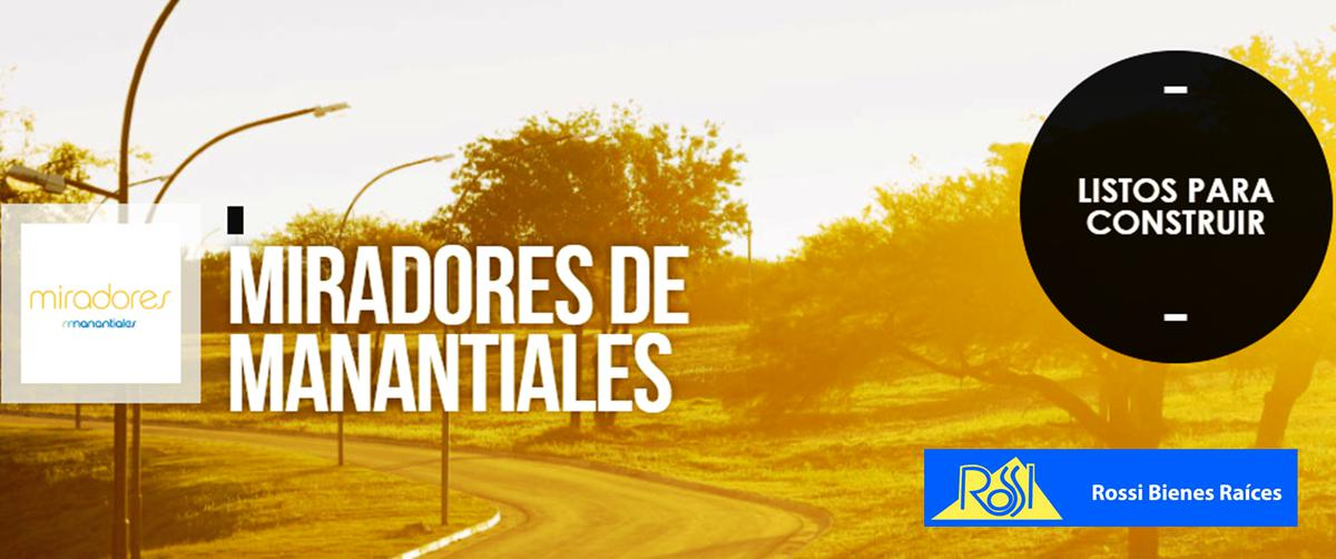 Foto Terreno en Venta en  Miradores de Manantiales,  Cordoba Capital  Miradores de Manantiales 1