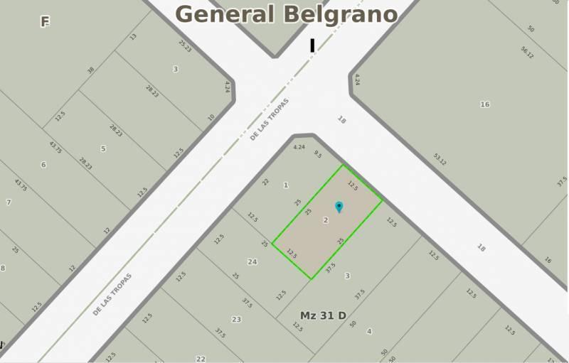 Foto Terreno en Venta en  General Belgrano,  General Belgrano  Calle 18 e/ 31 y 33 al 100