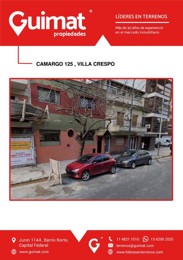 Foto Terreno en Venta en  Villa Crespo ,  Capital Federal  CAMARGO al 100