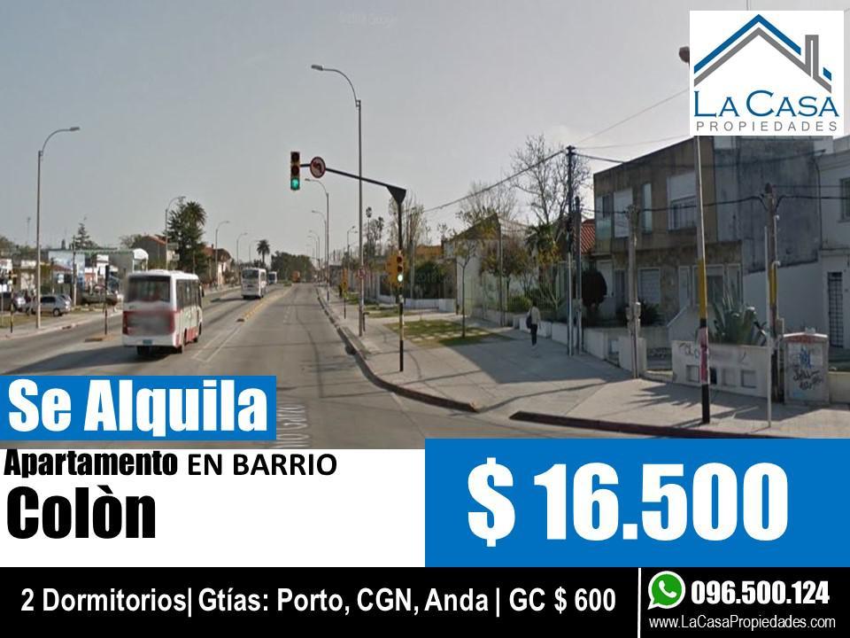 Foto Apartamento en Alquiler en  Colón ,  Montevideo  Garzon al 2000