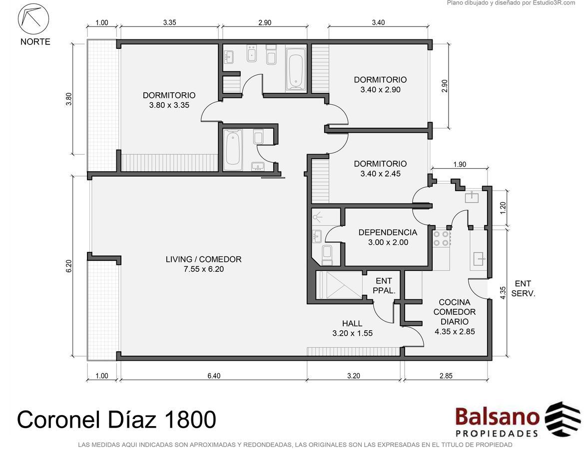 Foto Departamento en Venta en  Barrio Norte ,  Capital Federal  Av. Coronel Díaz al 1800