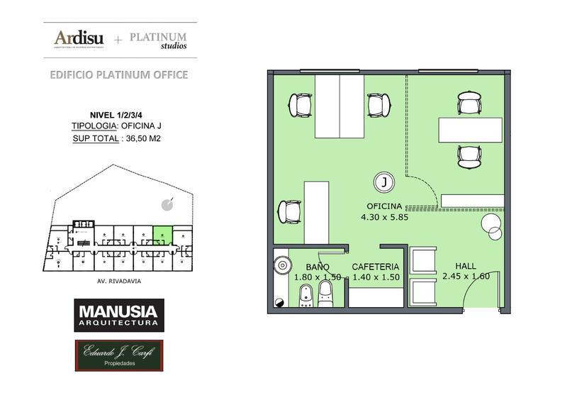 Foto Oficina en Venta en  Castelar Norte,  Castelar  Platinum Office - Rivadavia 19.861 (2J)