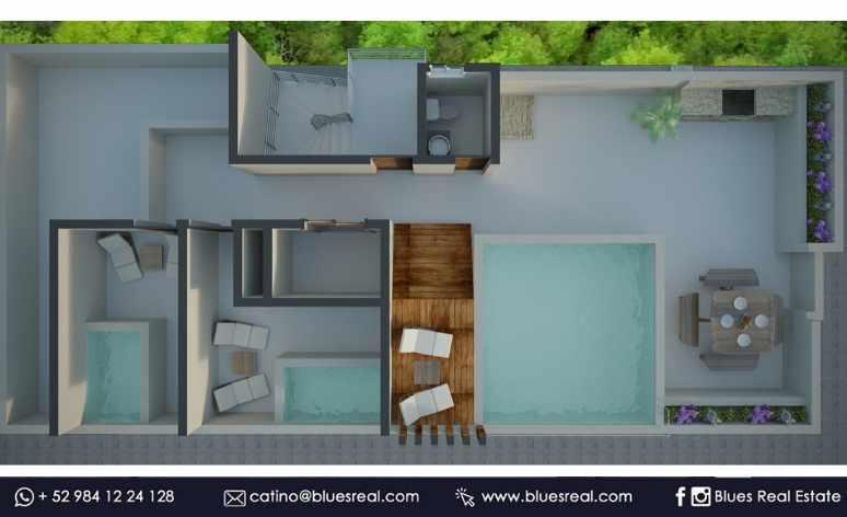 Picture Apartment in Sale in  Solidaridad ,  Quintana Roo  For sale apartments in Joshua Condos in Playa del Carmen | Blues Real | Code 670