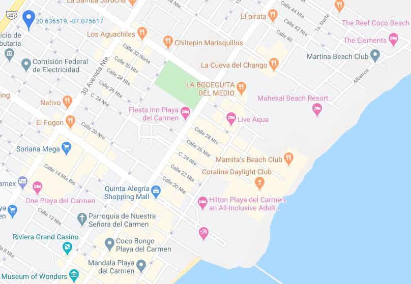 Foto Departamento en Venta en  Playa del Carmen,  Solidaridad  DEPARTAMENTO EN VENTA 1 O 2 REC-EQUIPADO, EN EL CENTRO DE PLAYA DEL CARMEN.