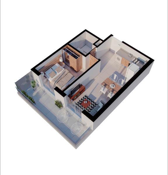 venta departamento 1 dormitorio Rosario, MENDOZA Y MORENO. Cod CBU34676 AP3509126 Crestale Propiedades