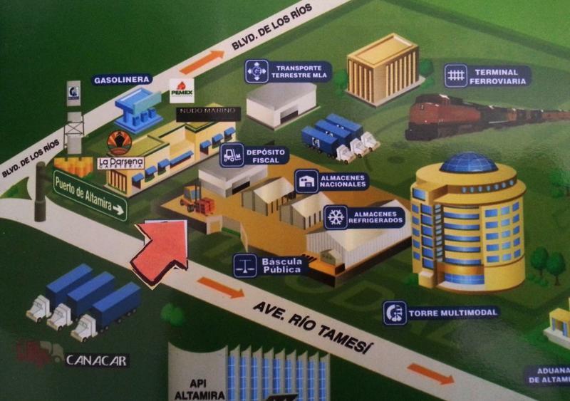 Foto Bodega Industrial en Renta en  Parque industrial Puerto Industrial de Altamira,  Altamira  Parque industrial Puerto Industrial de Altamira