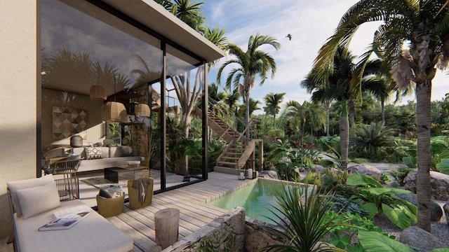 Foto Casa en Venta en  Tulum ,  Quintana Roo  BUNGALOW- ECO-LUJOSO CON PISCINA PRIVADA EN LA JUNGLA- TULUM
