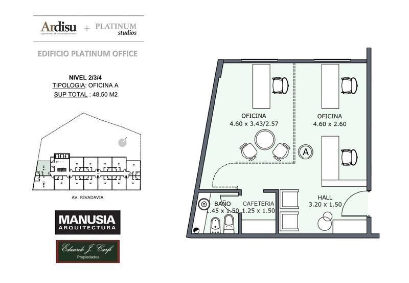 Foto Oficina en Venta en  Castelar Norte,  Castelar  Platinum Office - Rivadavia 19.861 (4A)
