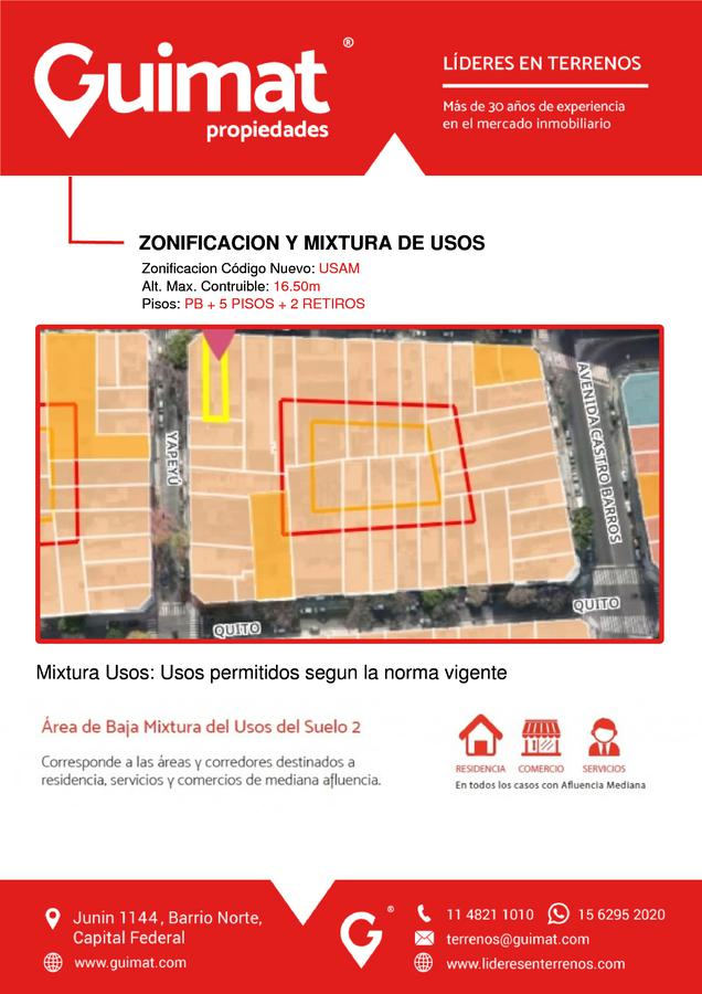 Foto Terreno en Venta en  Almagro ,  Capital Federal  Belgrano al 3800