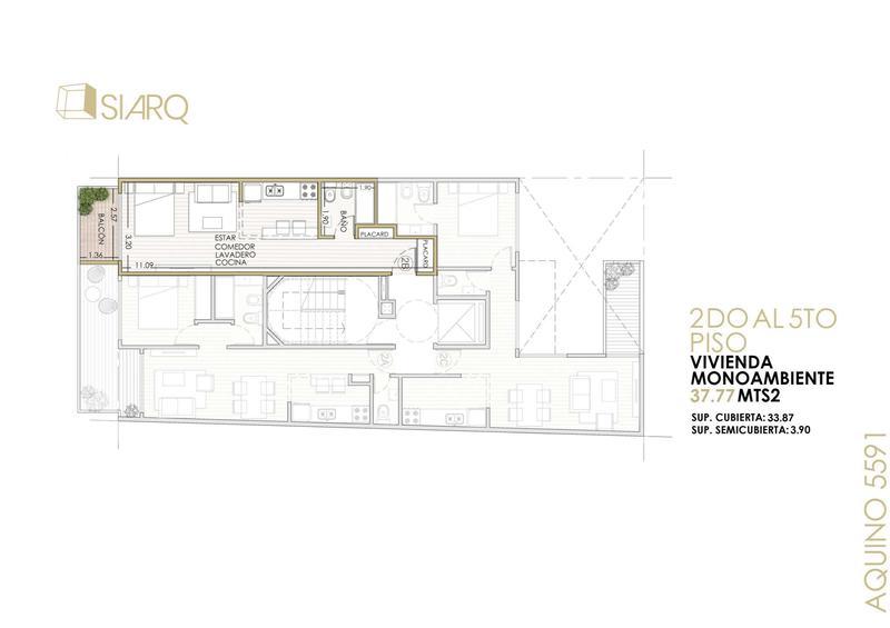 Foto Departamento en Venta en  Villa Lugano ,  Capital Federal  Aquino 5591 5º B