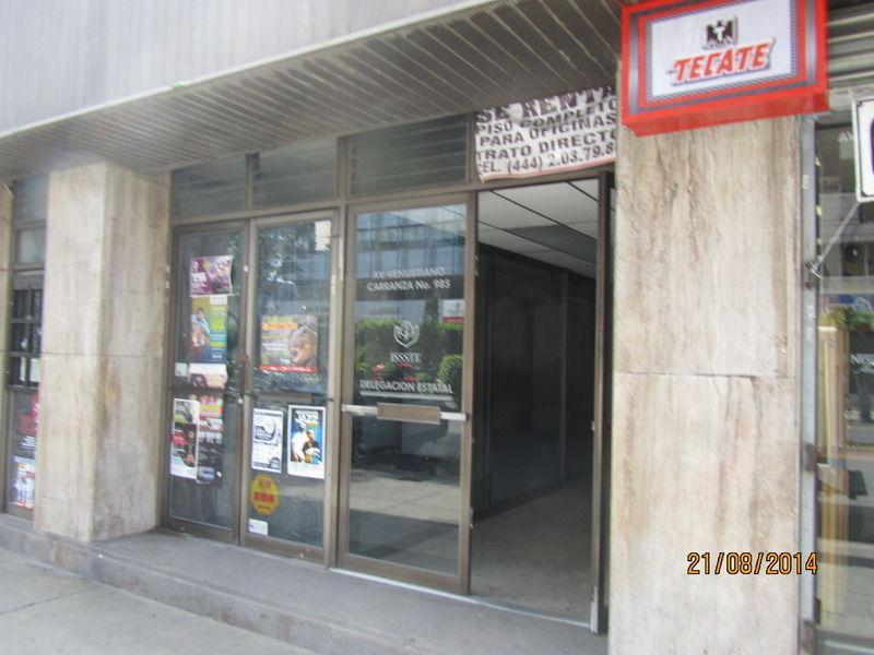 Foto Oficina en Renta en  Moderna,  San Luis Potosí  Oficinas en Renta BARRIO DE TEQUISQUIAPAN