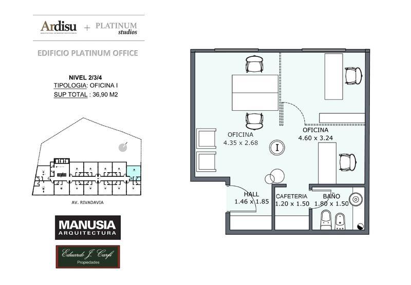 Foto Oficina en Venta en  Castelar Norte,  Castelar  Platinum Office - Rivadavia 19.861 (2I)