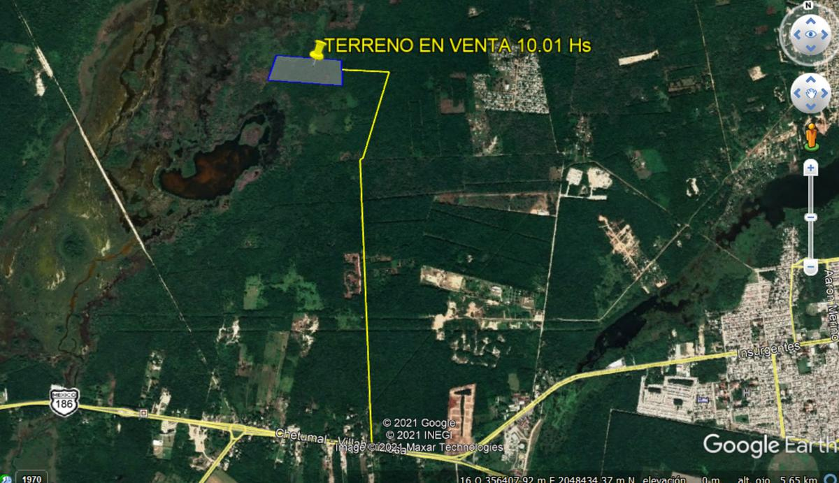 Foto Terreno en Venta en  Chetumal ,  Quintana Roo  10 HECTAREAS A 3 KM DE LA ENTRADA A CHETUMAL