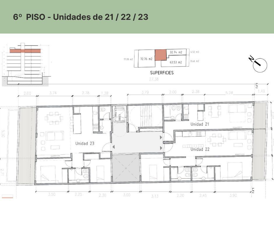 Foto Departamento en Venta en  Palermo Hollywood,  Palermo  EDIFICIO FR  MONOAMBIENTE PISO 6 - DPTO. # 21