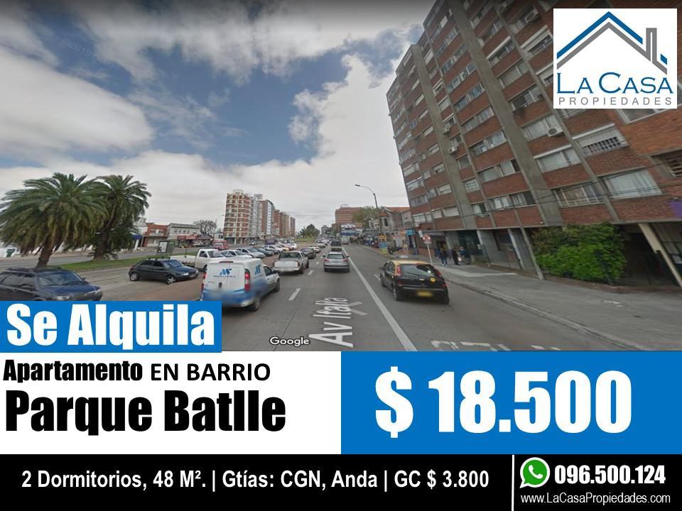 Foto Apartamento en Alquiler en  Parque Batlle ,  Montevideo  Av Italia al 3200