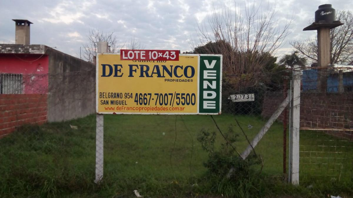 Foto Terreno en Venta en  Jose Clemente Paz ,  G.B.A. Zona Norte  Paez 2073
