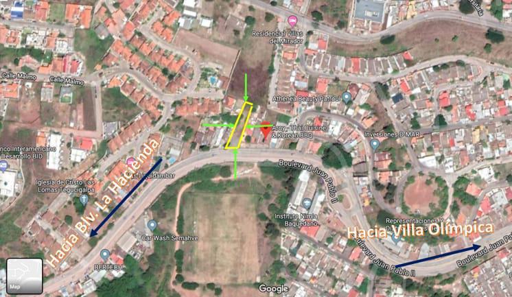Foto Terreno en Venta en  Boulevard Juan Pablo II,  Tegucigalpa  Terreno Comercialen Venta  en Blvd. Juan Pablo, Tegucigalpa