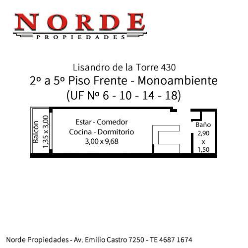 Foto Departamento en Venta en  Liniers ,  Capital Federal  Lisandro de la Torre 430 3º Piso Frente UF Nº 10