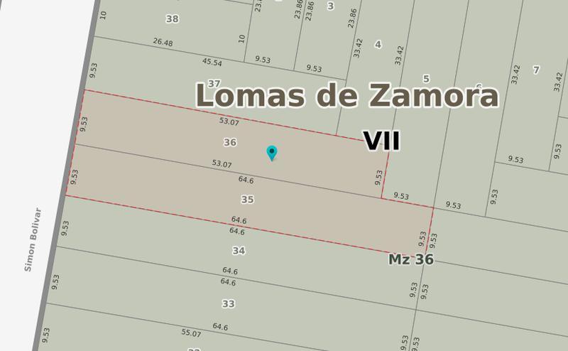 Foto Terreno en Venta en  Lomas de Zamora Oeste,  Lomas De Zamora  BOLIVAR  838 e/Chimento y Bustamante
