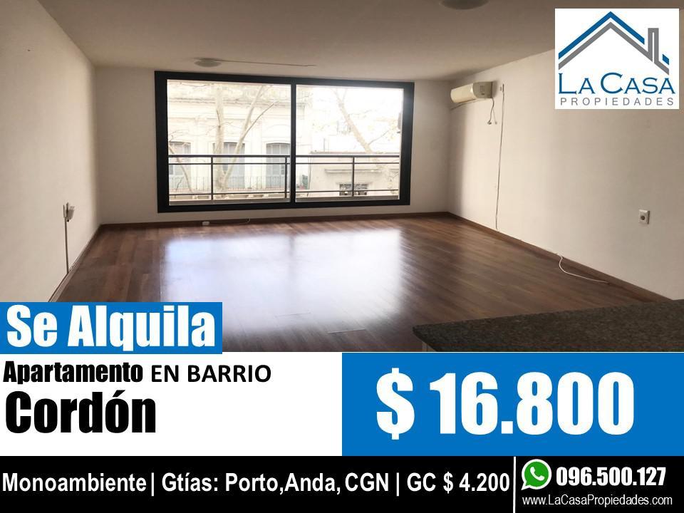 Foto Apartamento en Alquiler en  Cordón ,  Montevideo  Salto al 1200