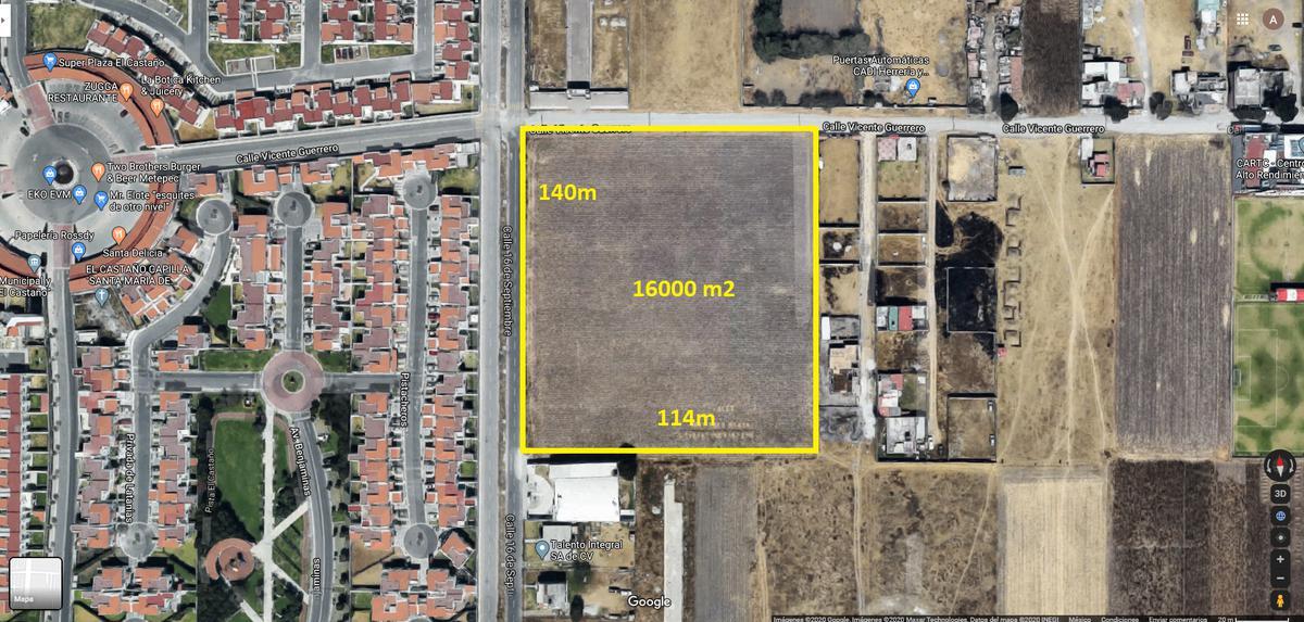 Foto Terreno en Venta en  Lázaro Cárdenas,  Metepec  VENTA DE TERRENO DE 16,000 M2 EN 16 DE SEPTIEMBRE METEPEC