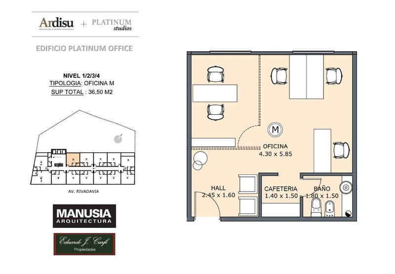 Foto Oficina en Venta en  Castelar Norte,  Castelar  Platinum Office - Rivadavia 19.861 (4M)