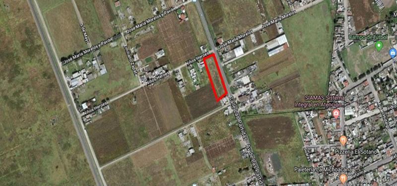 Foto Terreno en Venta en  La Constitución Totoltepec,  Toluca  Venta de Terreno de 3720 m2 sobre Av. las partidas