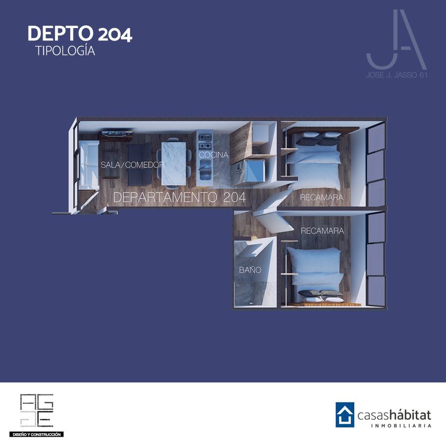 Foto Departamento en Venta en  Venustiano Carranza ,  Ciudad de Mexico  José J Jasso 61 - 204