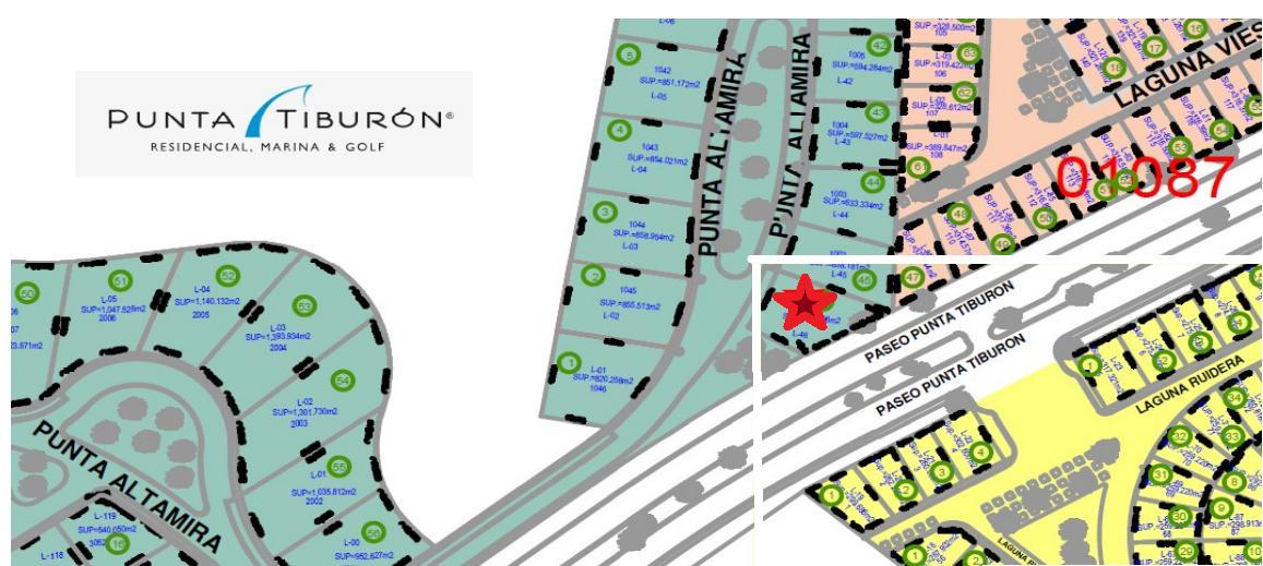 Foto Terreno en Venta en  Punta Tiburón,  Alvarado  PUNTA TIBURON, MARINA Y GOLF, Terreno en VENTA en esquina de 634.31 m2