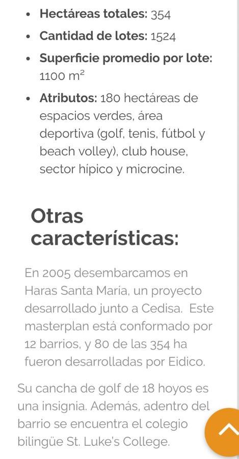 Foto Terreno en Venta en  Escobar ,  G.B.A. Zona Norte  Venta de excelente ubicacion en Haras Santa Maria y se escuchan propuestas  Props en Pago