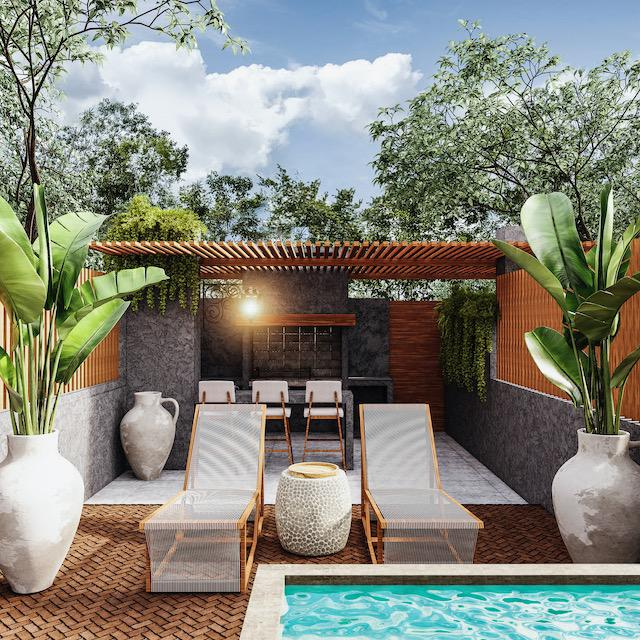 Foto Casa en Venta en  Tulum ,  Quintana Roo  TOWNHOUSE DE 1 REC. - ROOFTOP CON ASADOR Y PISCINA DE INMERSIÓN EN LA VELETA TULUM