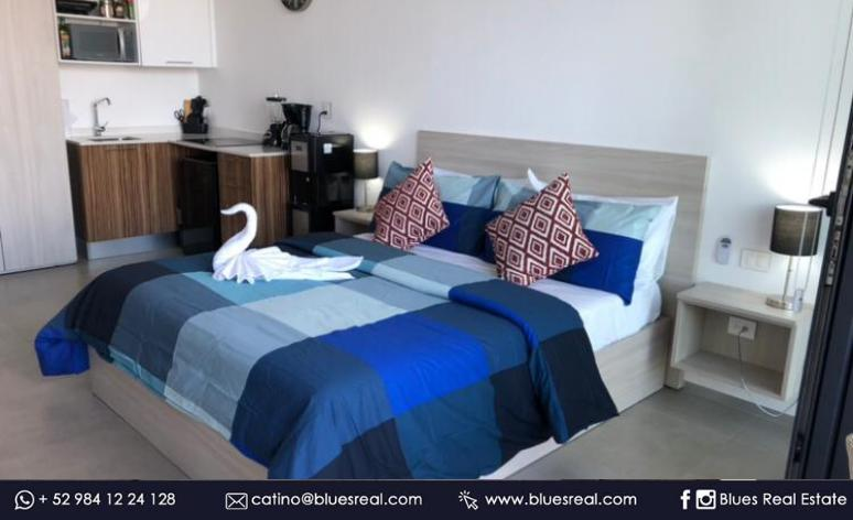 Picture Apartment in Sale in  Solidaridad ,  Quintana Roo  Fully furnished and equipped luxury studio for sale in La Ciudad condominium in Playa del Carmen, Quintana Roo | Real Blues | Code 974