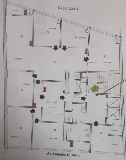 Foto Oficina en Alquiler en  Microcentro,  Centro (Capital Federal)  AV. LEANDRO N. ALEM al 1000