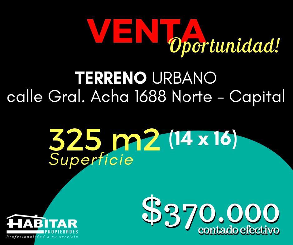Foto Terreno en Venta en  Concepción,  Capital  Gral. Acha al 1600