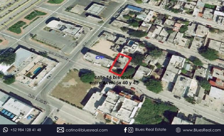 Picture Land in Sale in  Solidaridad ,  Quintana Roo  Land for SALE in the Center of Playa del Carmen. Super Opportunity!   Blues Real   Code 929