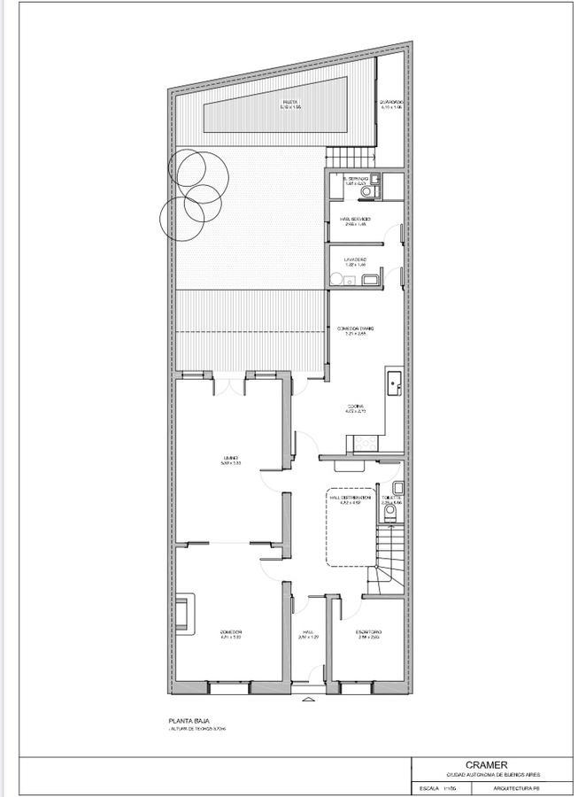 Foto Casa en Venta en  Colegiales ,  Capital Federal  Excelente Casa de Estilo de  6  Ambientes. con  Jardín y Piscina, Cramer 500  Excelente ubicación residencial en Colegiales, cercano a importantes avenidas.
