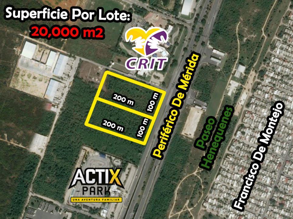 Foto Terreno en Renta | Venta en  Fraccionamiento Real Montejo,  Mérida  Terrenos Desde 20,000 m2 hasta 40,000 m2 En Periférico Norte
