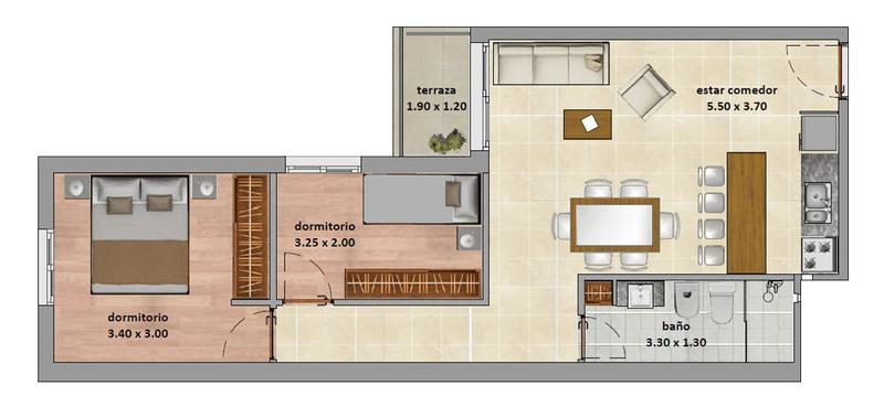 Foto Departamento en Alquiler en  Cordón ,  Montevideo  Piso alto, Apartamento 2d, y 2 garajes, barbacoa