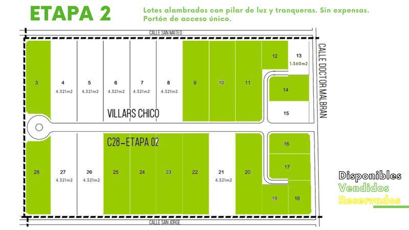 Foto Terreno en Venta en  Villars,  General Las Heras  Villars Chico 2