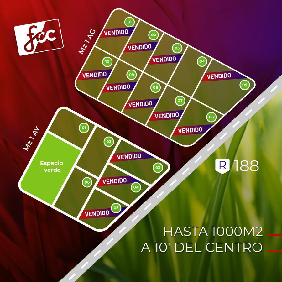 Foto Terreno en Venta en  Junin ,  Interior Buenos Aires  Loteo Ruta N° 188 Mz AY 1,2 y 6 - Mz AG  4