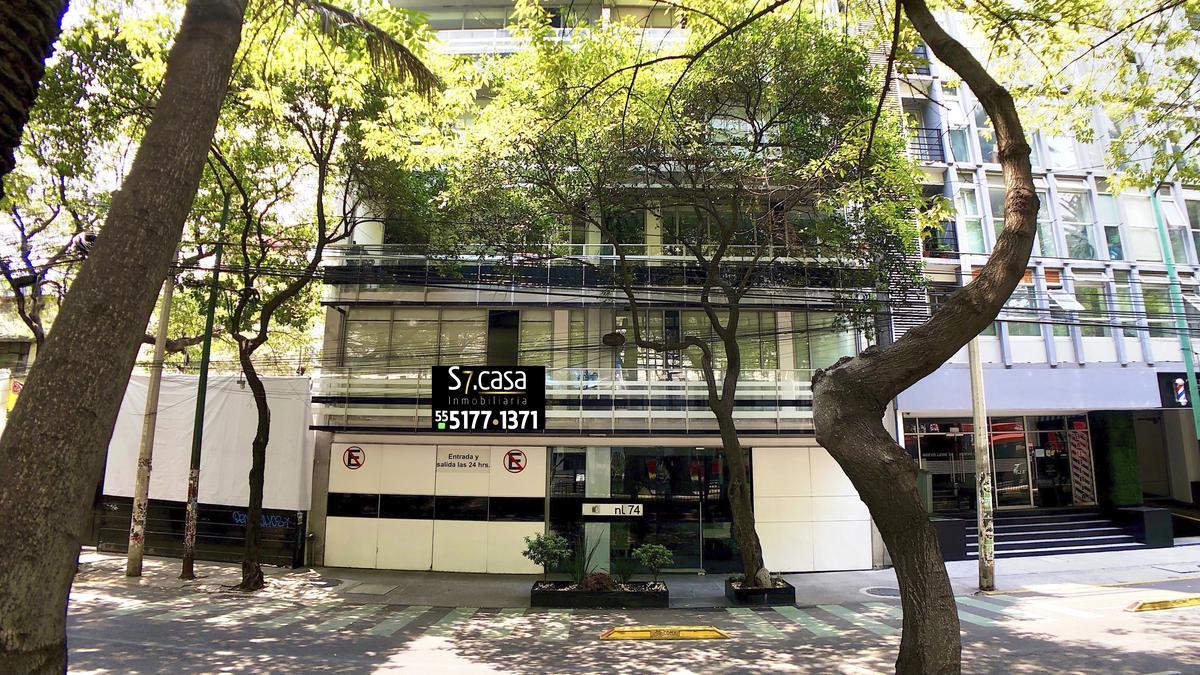 Foto Departamento en Renta en  Hipódromo,  Cuauhtémoc  Departamento en renta  Moderno, Hipódromo Condesa, balcon, piso bajo.
