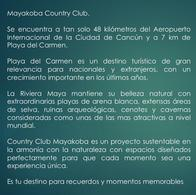 Foto Terreno en Venta en  Playa del Carmen,  Solidaridad  Terreno en venta en Mayakoba Country Club 328 m2 en Playa del Carmen.
