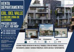 Foto Departamento en Venta en  Del Valle,  Benito Juárez    DEPARTAMENTO EN VENTA - COL. DEL VALLE. CERCA DE PARQUE HUNDIDO Y CENTROS COMERCIALES, EXCELENTE ZONA