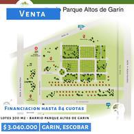 Foto Terreno en Venta en  Garin,  Escobar  1 de mayo 3999, Barrio Parque Altos de Garin