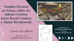 Foto Terreno en Venta en  Fraccionamiento Sábalo Cerritos,  Mazatlán  TERRENO EN CERRITOS MAZATLAN, PRECIO DE OFERTA $1,200.00 MX POR M²