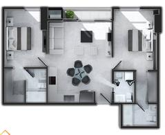 Foto Departamento en Venta en  Lomas del Guijarro,  Tegucigalpa  Apartamento de 2 habitaciones y 2.5 baños, en Nivo Lomas del Guijarro, Tegucigalpa