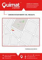 Foto Terreno en Venta en  Recoleta ,  Capital Federal  SANCHEZ DE BUSTAMANTE al 1300