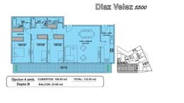 Foto Departamento en Venta en  Caballito ,  Capital Federal  Díaz Vélez al 5500 Departamento en construcción  4 amb c PATIO. ANTICIPO Y CUOTAS . Edifico c/ PISCINA SOLARIUM GYM KIDS CLUB SUM