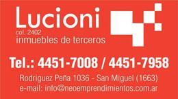 Foto Departamento en Venta en  Muñiz,  San Miguel  AVENIDA PERON AL 200 - EXCELENTE 2 AMBIENTES DE CATEGORIA A ESTRENAR - EDIFICIO BOX
